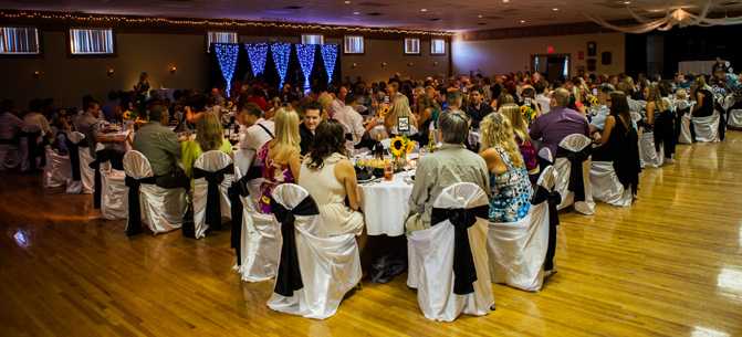 The Colombo Lodge features the largest banquet hall in the Kootenays with a maximum capacity of 436 people.